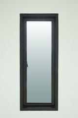 modern black aluminium window with white wall