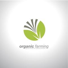 organic farming logo design
