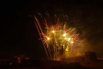 Giochi pirotecnici festa di Santa Venera ad Acireale