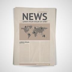 Retro newspaper