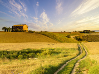 beautiful Tuscan rural landscape