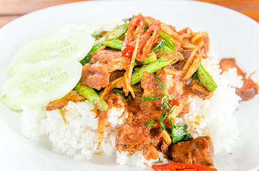 stir fried spicy. Thai spicy herb food
