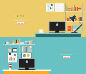 Business office interior style.