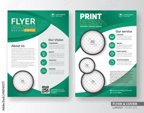 multipurpose corporate business flyer layout template design suitable for leaflet flyer brochure