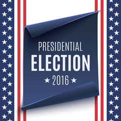 Presidential Election 2016 background.
