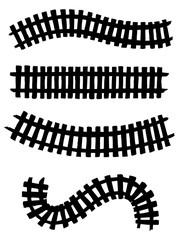 Railway. Vector drawing