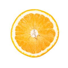 Slice of orange isolated