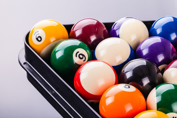 Billiard balls detail
