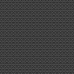 3d Black Elegant Seamless Pattern