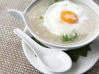 rice gruel has egg