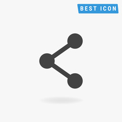 Share Icon Flat, Share Icon Sign