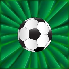 Soccer Ball Over Green