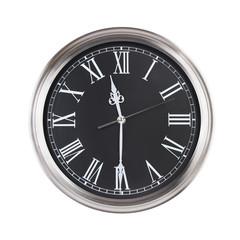 Half past eleven on the clock
