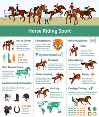 Horse Rising Infographics