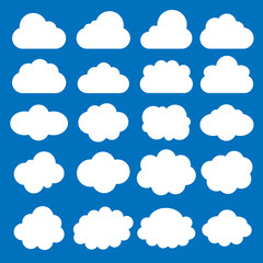 Cloud set. Cloud Icon Vector.