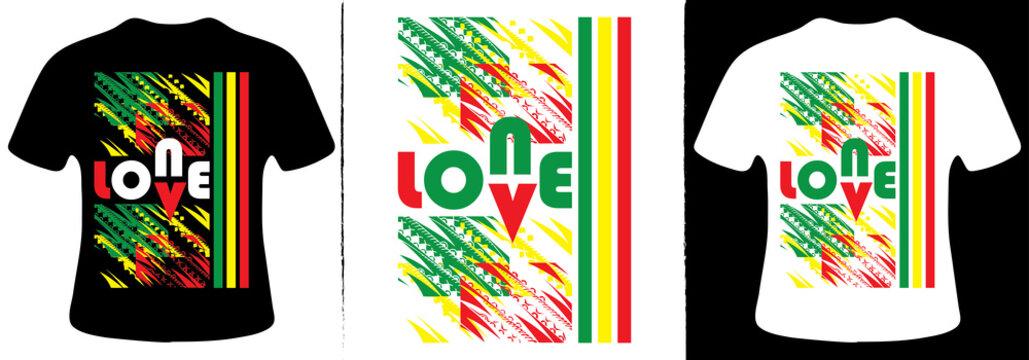 One love T-Shirt Design