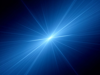 Blue glowing speed of light