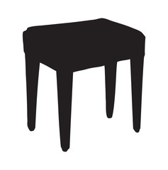 Stool. Vector drawing