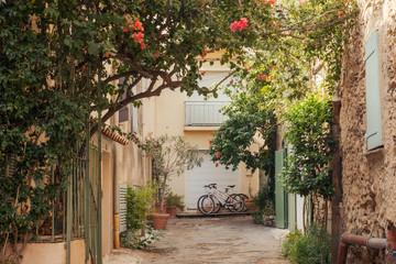 Small street at Saint Tropez, France