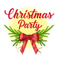 Christmas Party Lettering