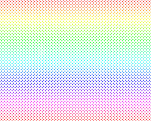 Seamless polka dots with gradient colorful Canvas pattern background