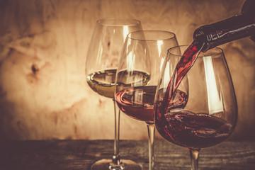 Spoed Foto op Canvas Wijn Selection of wine for tasting