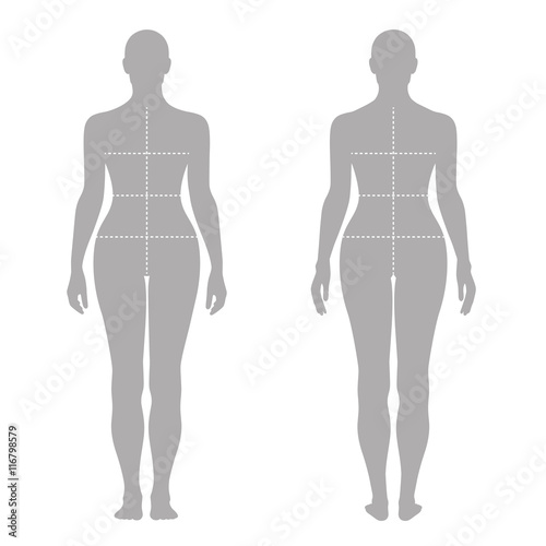 Fashion womans solid template figure silhouette front back v fashion womans solid template figure silhouette front back v maxwellsz