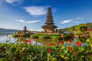 Pura Ulun Danu Bratan, or Pura Beratan Temple, Bali island, Indo