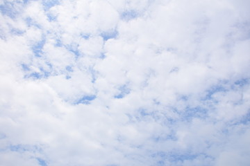 Clouds blue sky background.