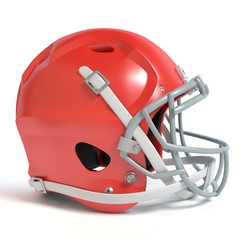 3d illustration of a football helmet