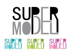 Super Model Typography