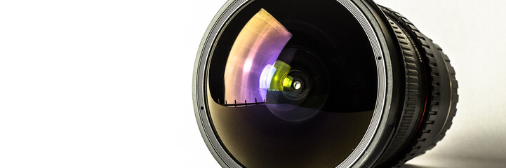Camera lens, photography background