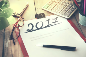 2017 on notepad Fotomurales
