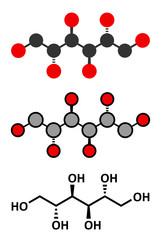 Mannitol (mannite, manna sugar) molecule.