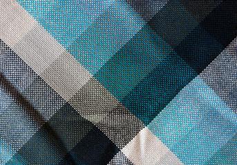 Tessuto a quadri blu