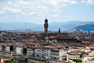 Florence downtown, top view, Tuscany, Italy