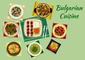 National bulgarian cuisine menu dishes