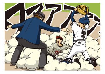 高校野球のイメージイラスト