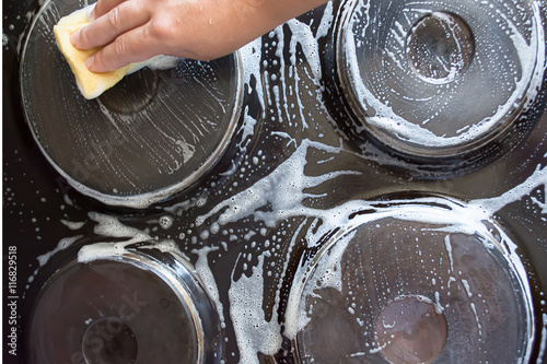 kitchen cleaning time stock photo and royalty free images on pic 116829518. Black Bedroom Furniture Sets. Home Design Ideas