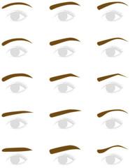 女性の眉毛の形 トリミング