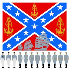 The flag and the linear part of the Confederation Navy