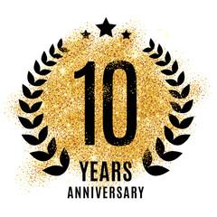 Ten years golden anniversary