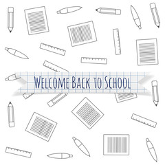Welcome Back to School festive Label