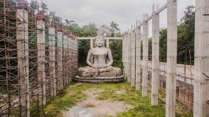building Big Buddha on the mountain near national park