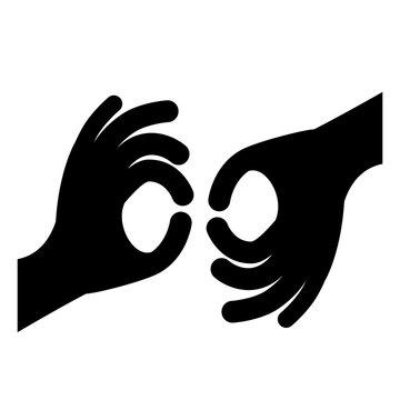 sign language isolated icon design, vector illustration  graphic