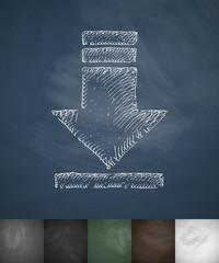 download icon. Hand drawn vector illustration