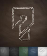 new help icon. Hand drawn vector illustration