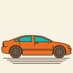 Papiers peints Cartoon voitures Isolated vector car. Flat design style