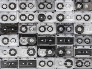 background audio cassettes, vintage