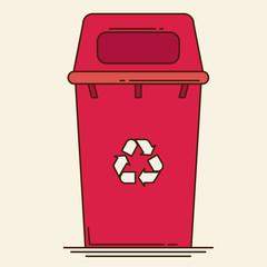 Waste sorting garbage bin vector